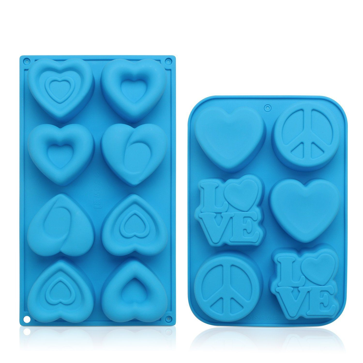 "/""Love heart/"" plastic soap mold soap making mold mould bar"