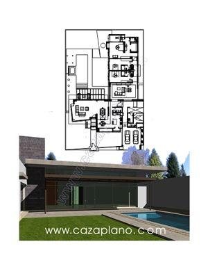 Planos de casa de una planta dise o de casas pinterest - Disenos de casas de una planta ...