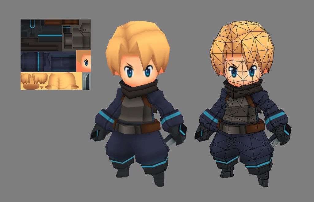 Low Poly Character Modeling Blender : Bran model by eelgod viantart on deviantart cute