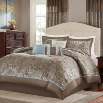 Madison Park Elsa 7 Piece Comforter Set Comforter Sets Hotel Bedding Sets Bed Decor