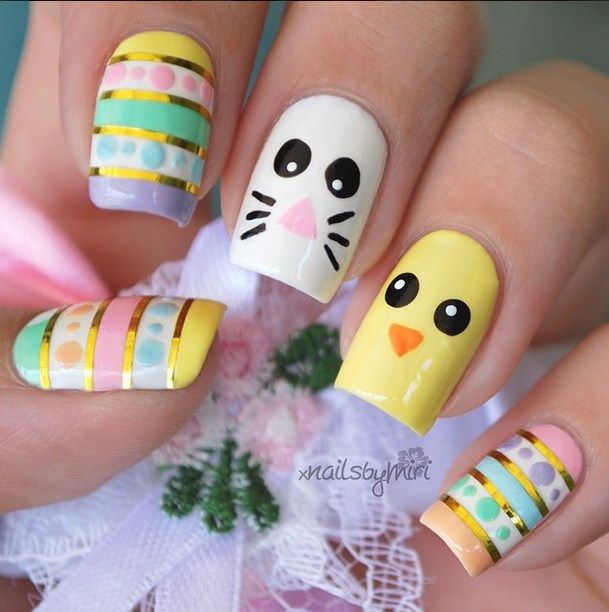 Ready for Easter : 38 Super Cute Easter Nail Art Designs - Ready For Easter : 38 Super Cute Easter Nail Art Designs Easter