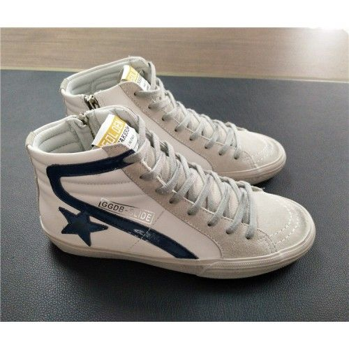 2017 GGDB Sneakers Femme - Basket 2017 GGDB Soldes Golden Goose DB Slide  Femme Sneakers Blanc