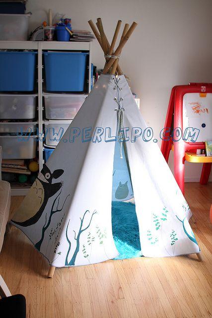 Homemade Totoro tepee \u003c3 (Un tipi Totoro maison) Inspirations