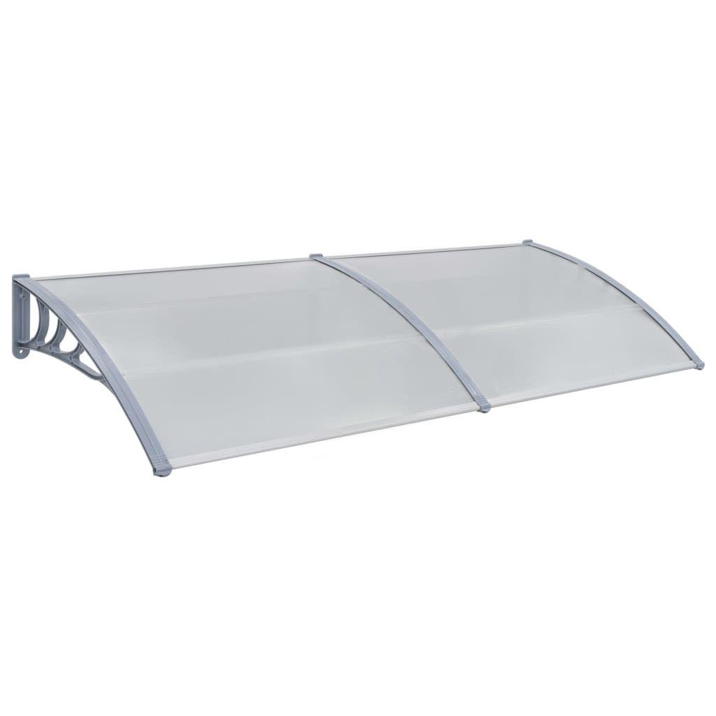 Door canopy 200×100 cm plastic gray