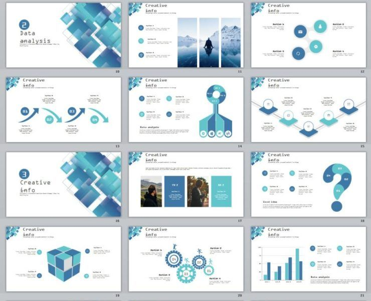 28+ Blue swot report charts PowerPoint Template PPT Pinterest - data analysis report template