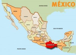 this is where oaxaca is on a map of mexico