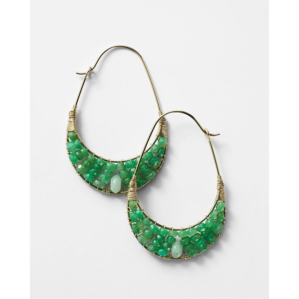 Nashelle Semiprecious Hoop Earrings | Jewels | Pinterest