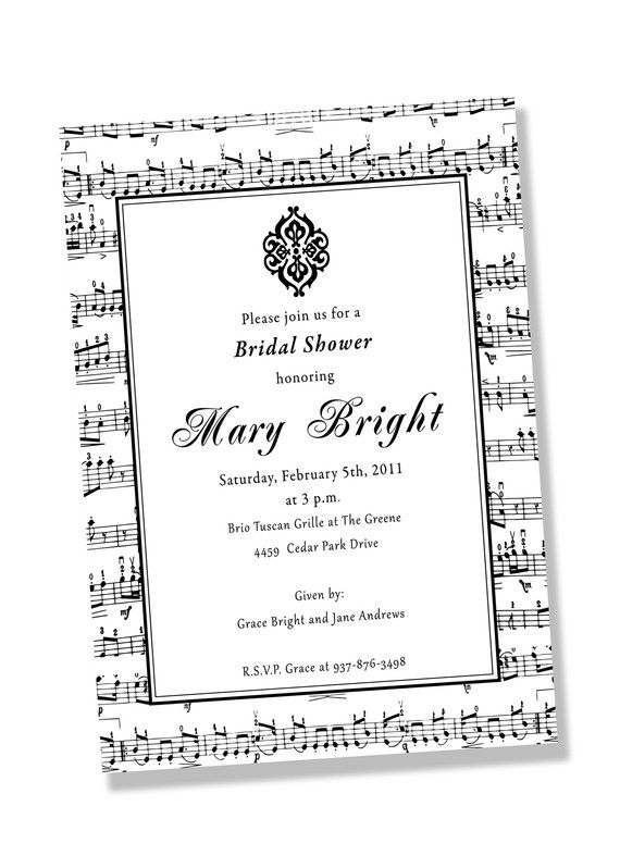 musician printable music party invitation printing available
