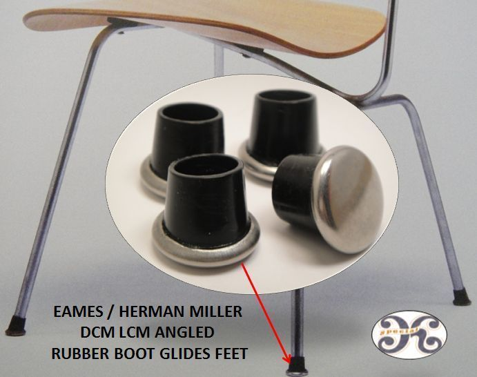 Dcm Lcm Chair Rubber Boot Glides For Herman Miller Eames H Base X Base Parts Ebay Furniture Feet Herman Miller Chair