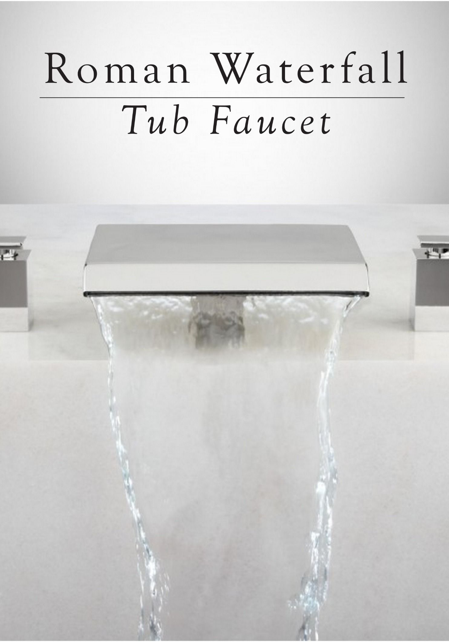 Lavelle Waterfall Roman Tub Faucet | Master bathrooms, Faucet and Tubs