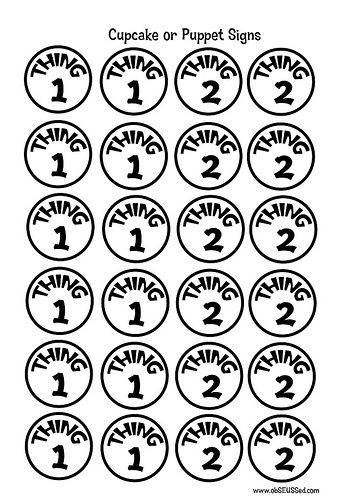 image relating to Thing 1 and Thing 2 Printable Circles known as Dr. Seuss Cupcake symptoms free of charge printable Detail 1, point 2