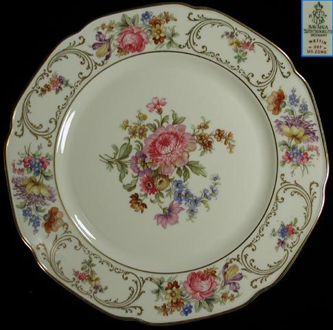 Antique China Patterns Value | Tirschenreuth Dresden Style Plate : value of antique plates - pezcame.com