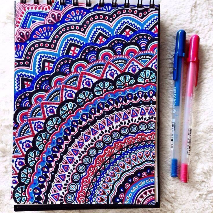 Mandala Color I Totally Want To Do One Of These Pen Doodle Things When Have The Time