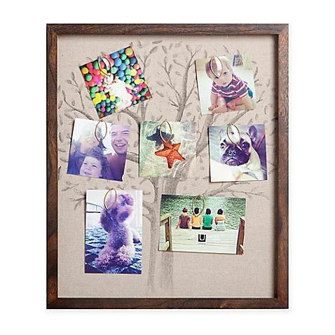 Umbra 10-Photo Linen Family Tree Collage Frame in Walnut | Familia ...