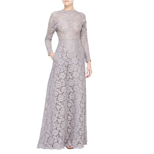 Valentino Women\'s Long-Sleeve Lace Gown With Open Back $9690 | Style ...