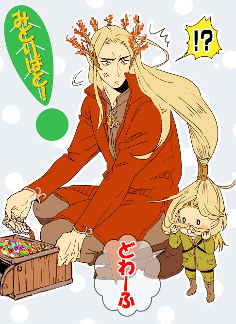 Little Legolas wants to be a dwarf and is annoying his Ada