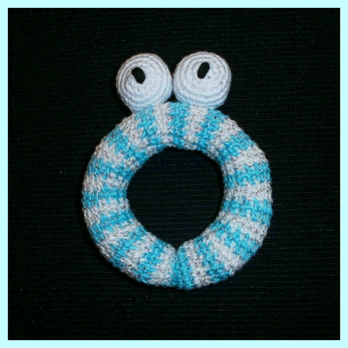 Crochet Babyrattle - Virkad Babyskallra - Crocheted by Susanna