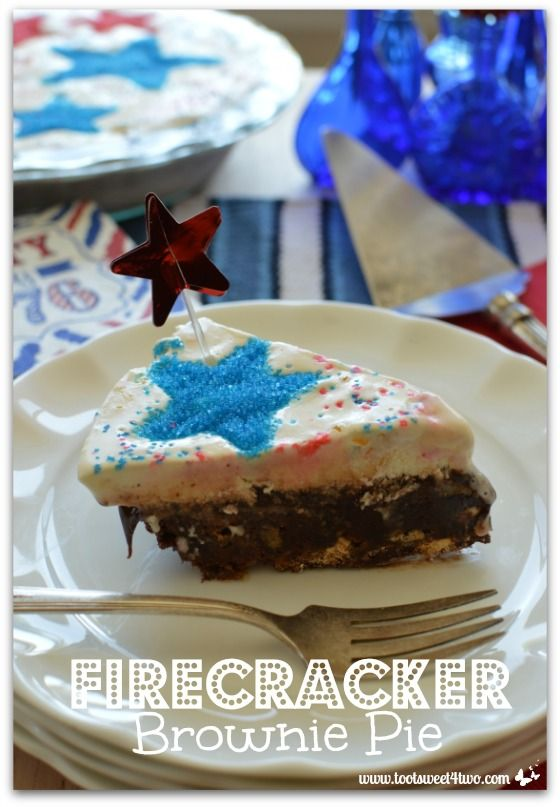 Firecracker Brownie Pie