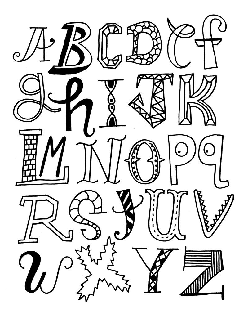 Each letter of this alphabet is different, From the