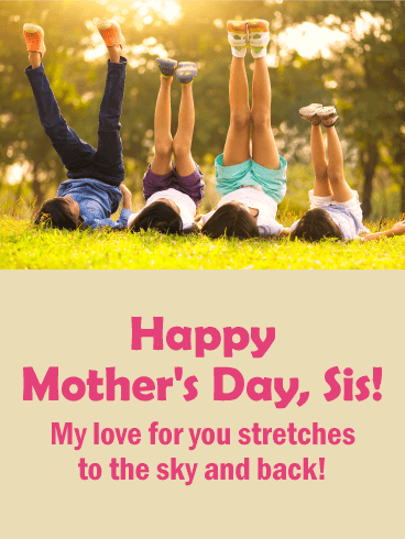 To The Best Sister Happy Mothers Day Card The Bond Between