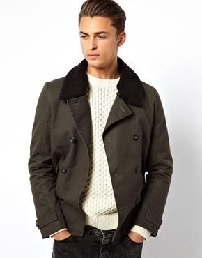 Selected Teddy Collar Double Breasted Bomber Jacket from ASOS #poachit