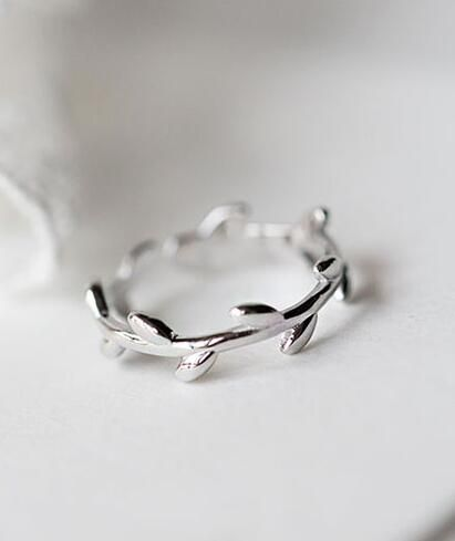 silver leaf pinky ring for girls http://www.jewelsin.com/p ...