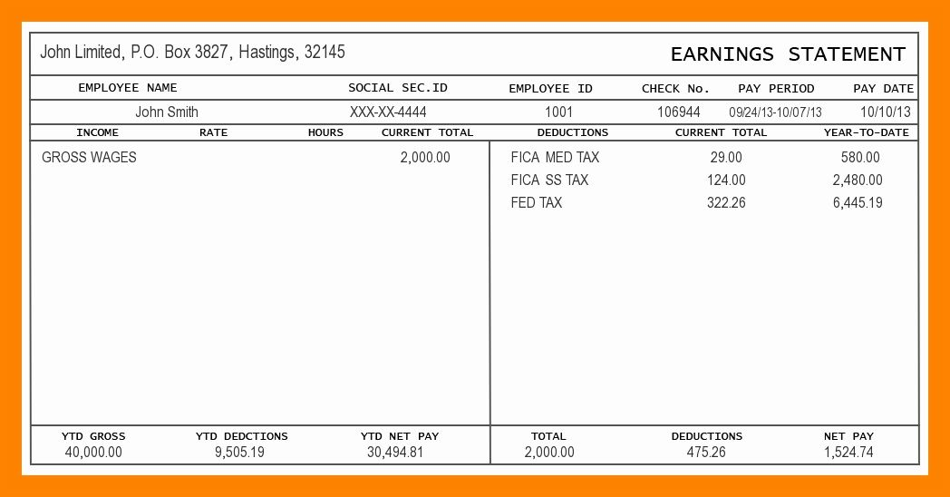 30 Independent Contractor Pay Stub Template In 2020 Free