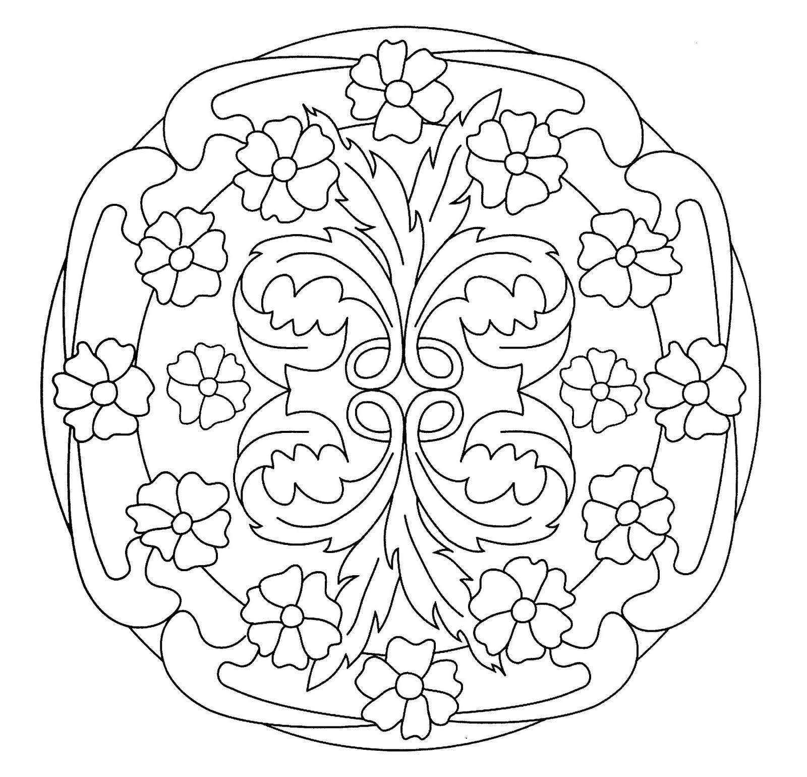 Mandalas Para Pintar Mandala Art Nouveau