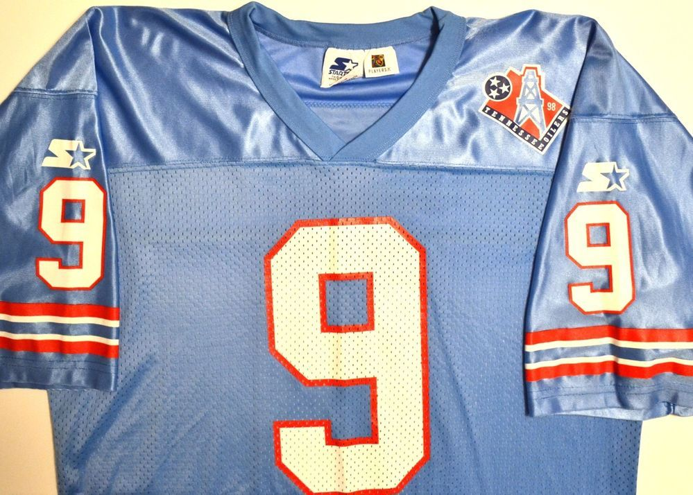 791af3a50 STARTER Tennessee OILERS Steve McNair  9 Football Jersey Vintage 1998 - XL  52  Starter  TennesseeOilers
