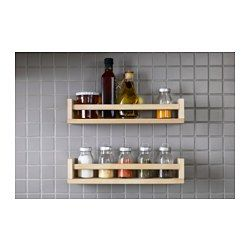 IKEA - BEKVÄM, Spice rack, Saves space on the worktop.Solid wood can be sanded and surface treated as needed.