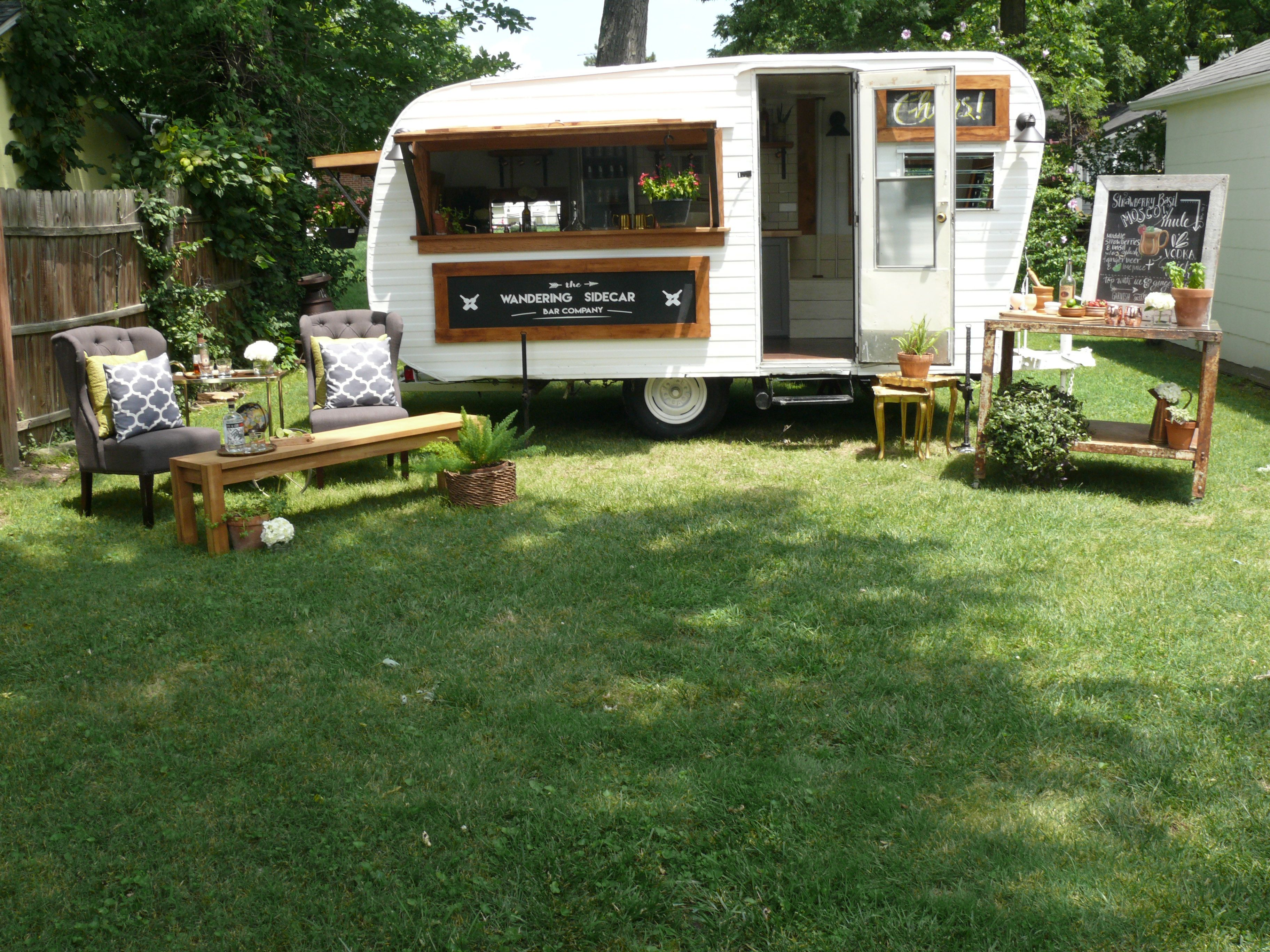 the wandering sidecar bar company offers two mobile bars for hire