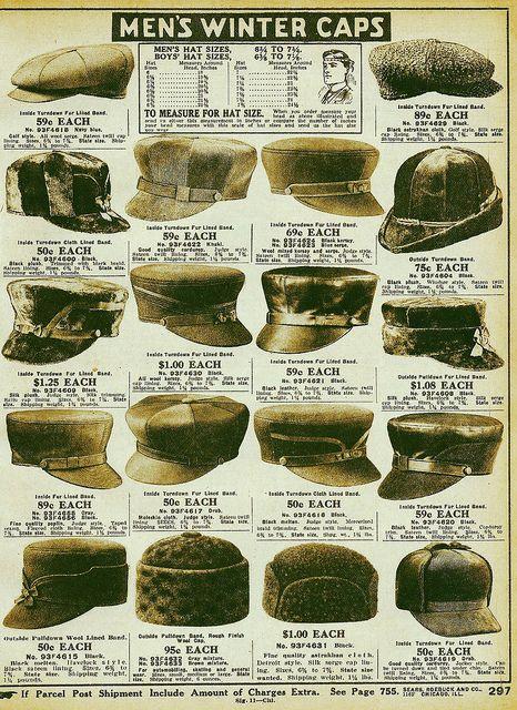 552c87fa17 men s winter caps 1916