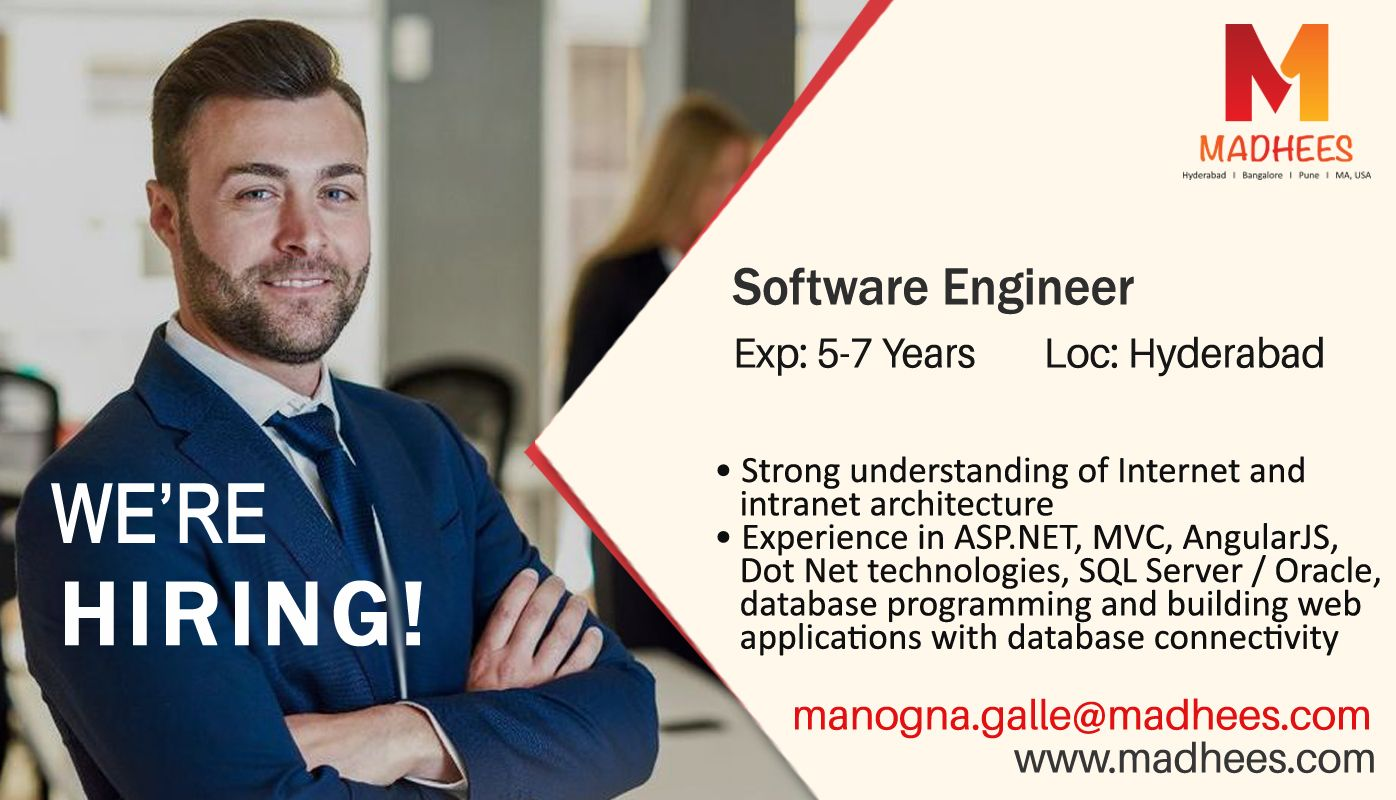 Urgent Requirement Software Engineer With  Years Experience In