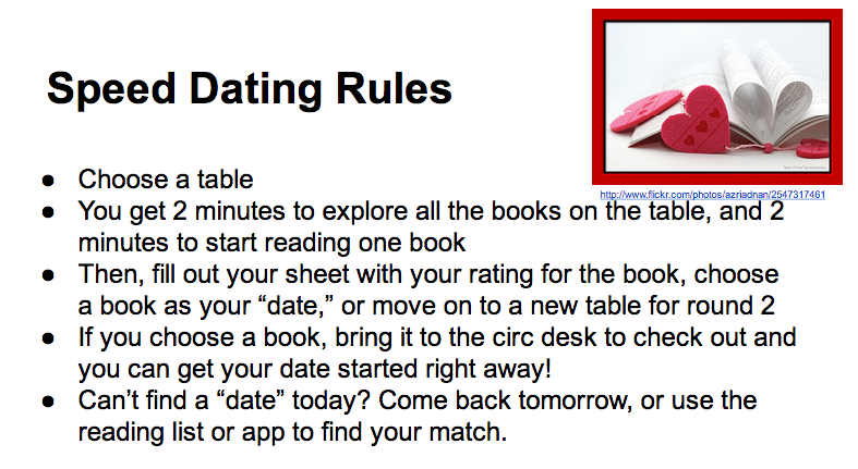 Rules in speed dating #5