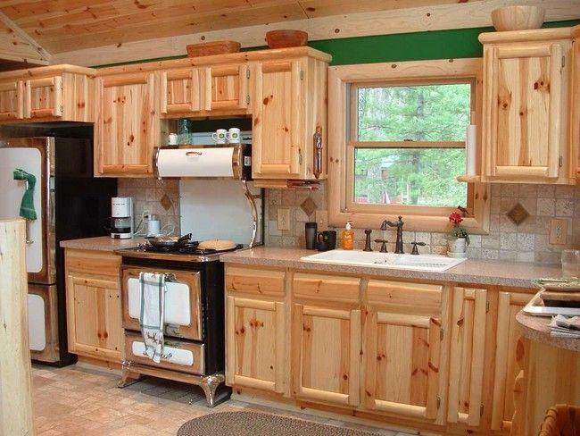 pine kitchen cabinets - Google Search | Home depot kitchen ...