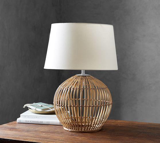 Wyatt Table Lamp Pottery Barn Table Lamp Lamp Round Table Lamp