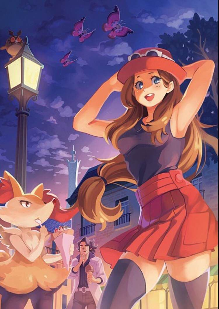 Serena and her Braixen ♡ I give good credit to whoever