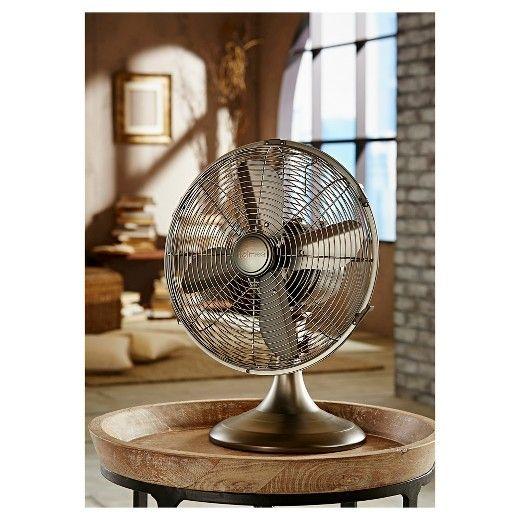 Holmes Metal Table Fan Bronze Hdf1206 Btu Target