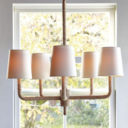 Pottery Barn And West Elm Inspired Diy Rope Chandelier Rope Chandelier Rope Light Fixture Rope Light