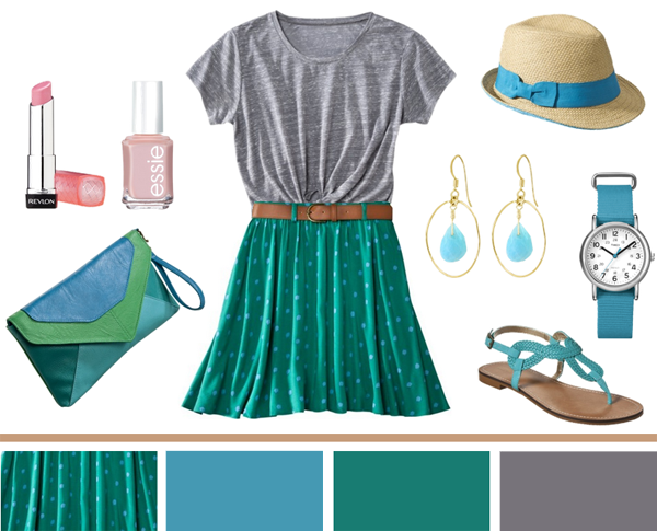 Blues + Greens (all from Target)...