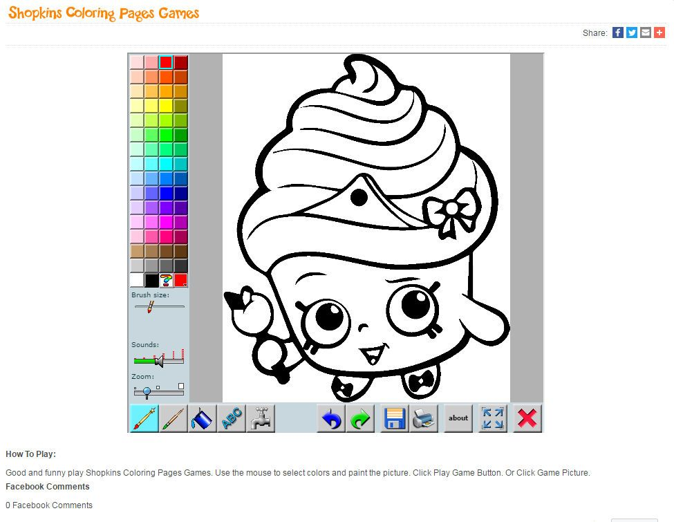 Shopkins Coloring Pages Games
