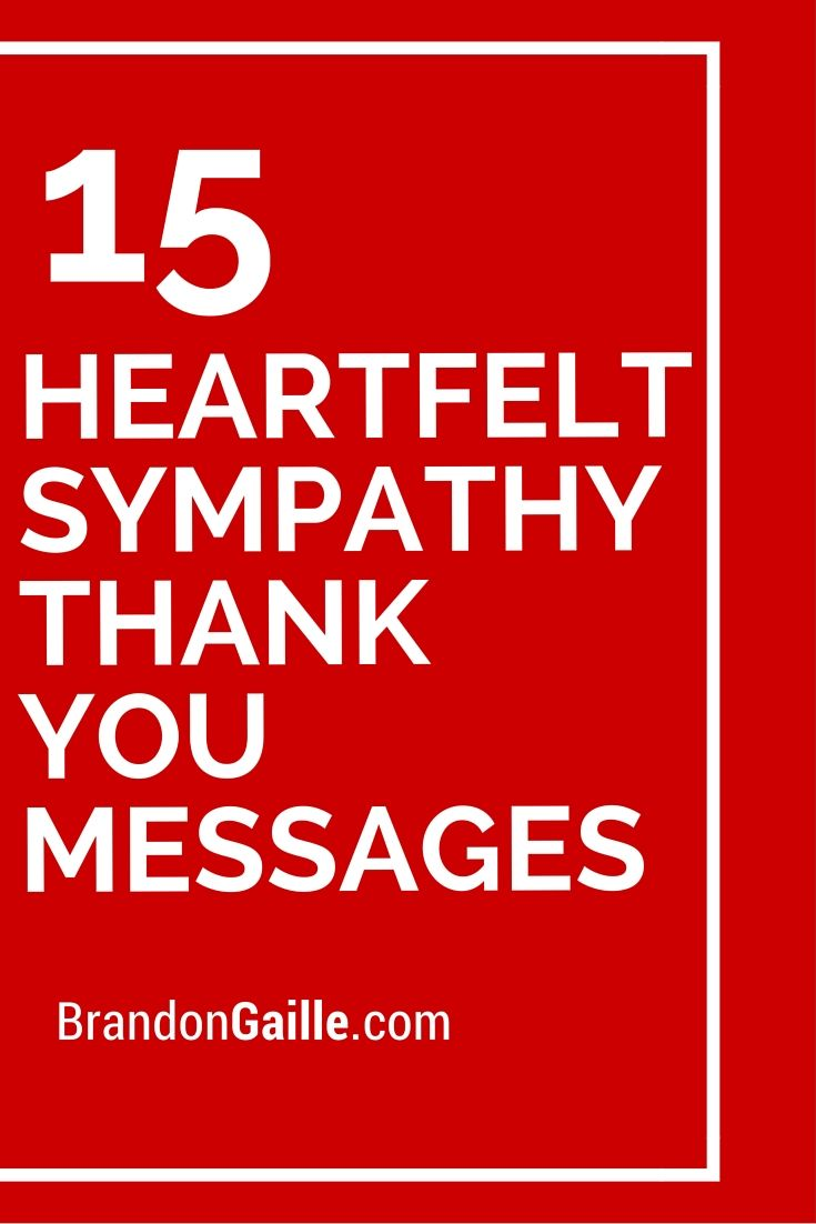 17 Heartfelt Sympathy Thank You Messages | Card | Pinterest ...