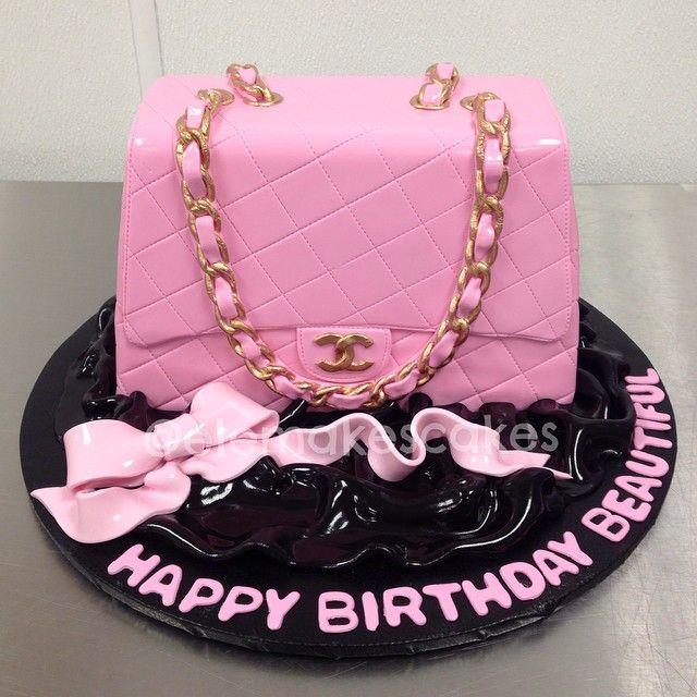 ba055ab45817 Pink Chanel Purse Cake