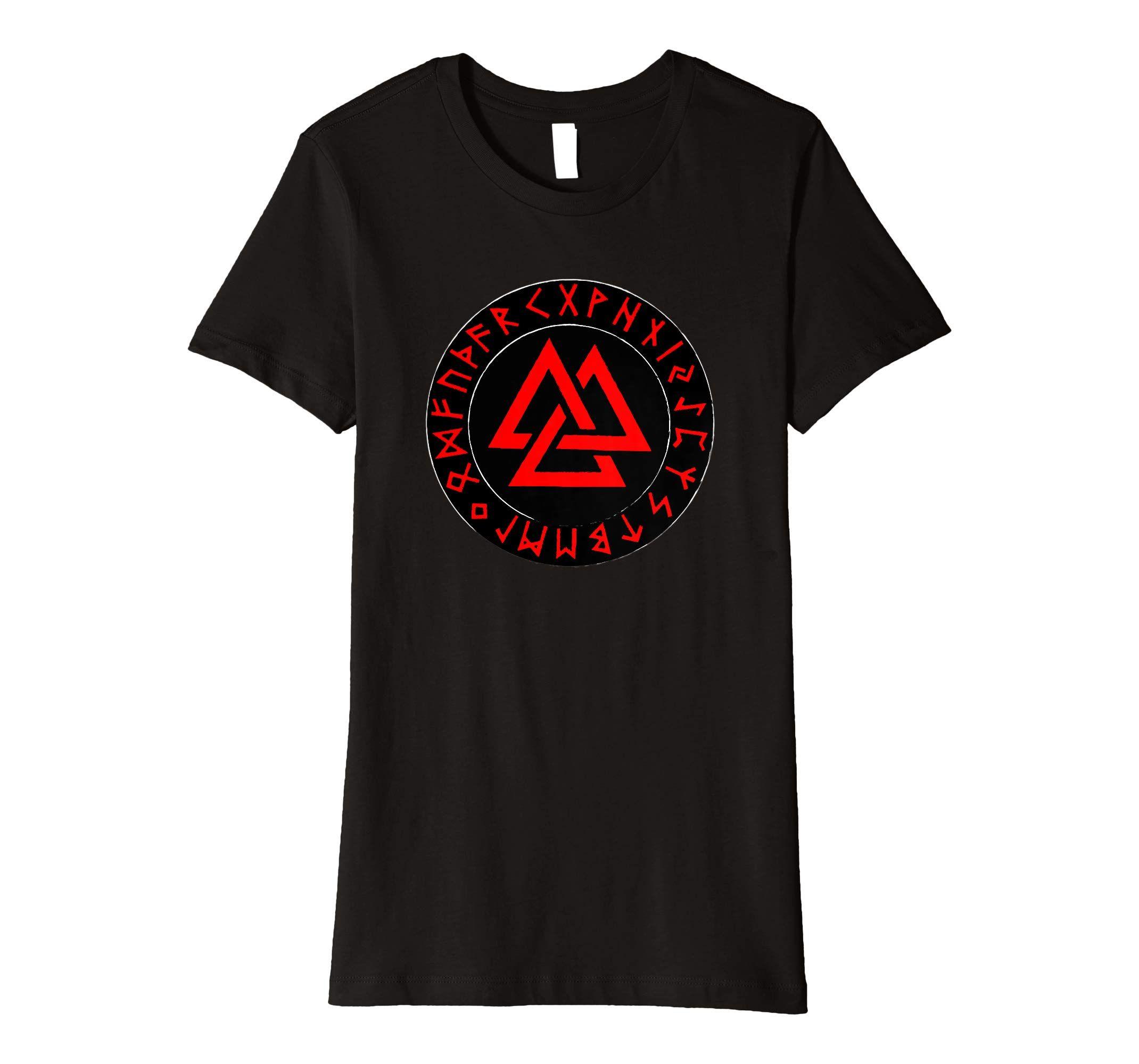 Valknut Symbol Wikinger Runen T Shirt Amazon De