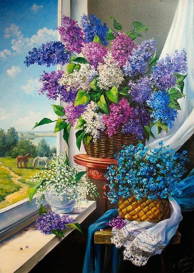 Украинская художница Мария Гордеева | Цветочная стена ...