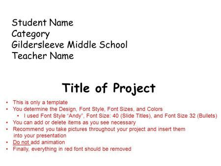 student name category gildersleeve middle school teacher name, Presentation templates