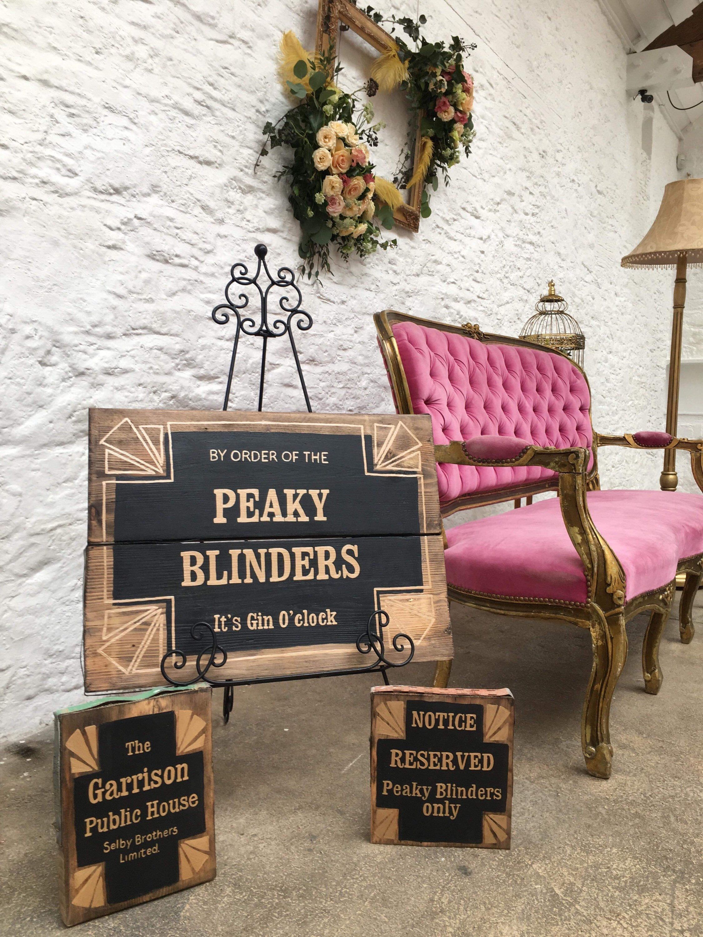 8f488f126 Peaky Blinder pub sign and range of decor suitable for a Peaky ...