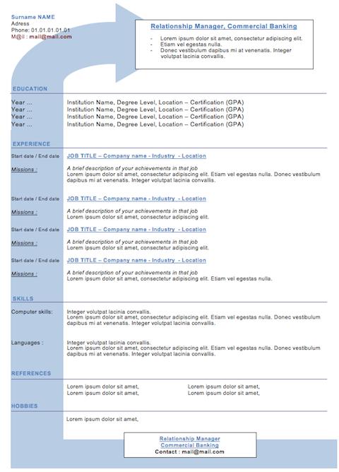 Modern Resume   Resume Job Free  Sample Cv  Woocv  Misc