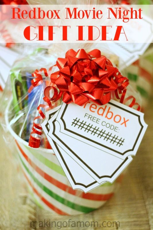 Redbox Movie Night Gift Idea - Making of a Mom