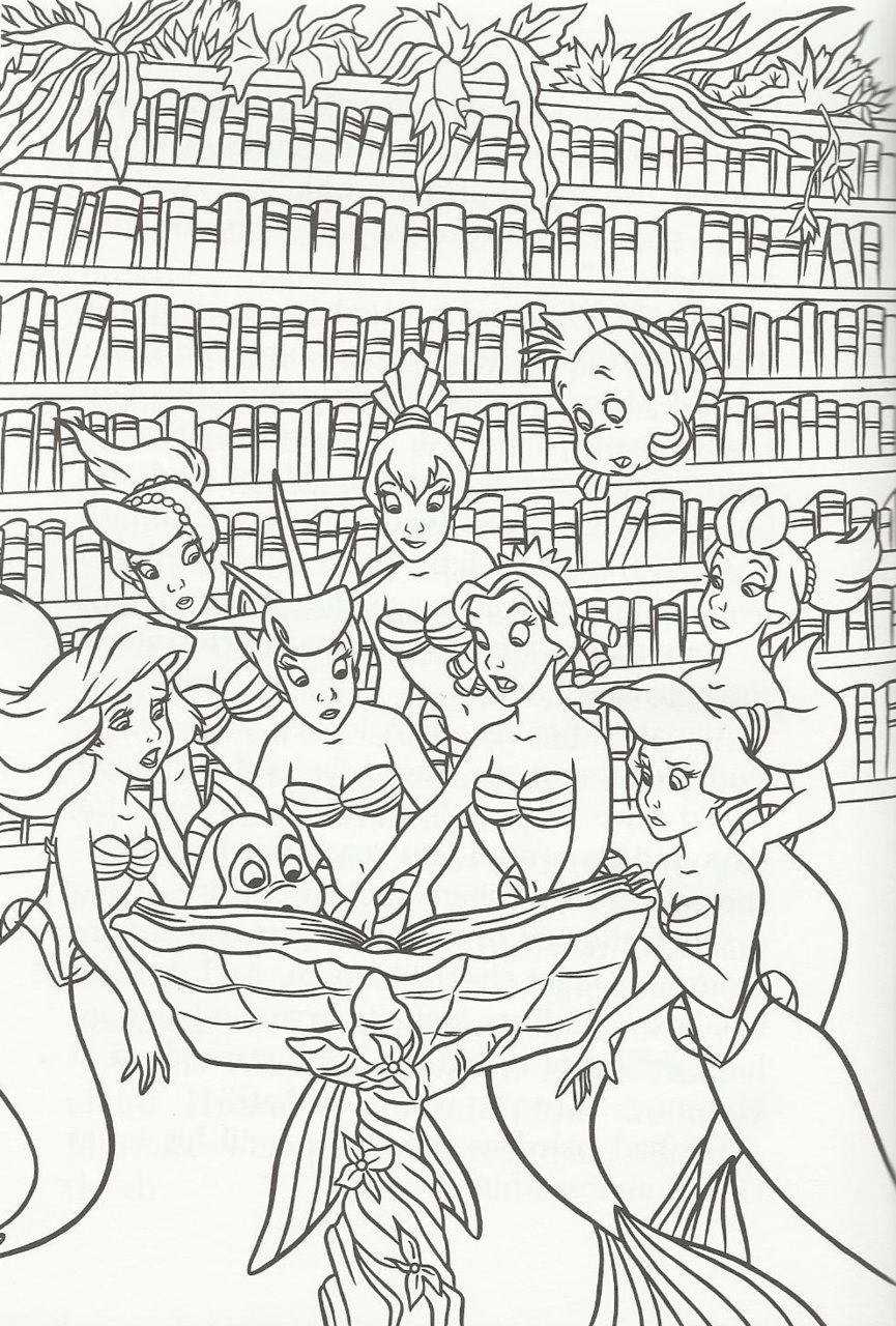The Little Mermaid Photo Mermaid Coloring Pages Cartoon Coloring Pages Disney Princess Coloring Pages